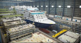 Saga's 'Spirit of Discovery' ready to float as Dover prepares for naming